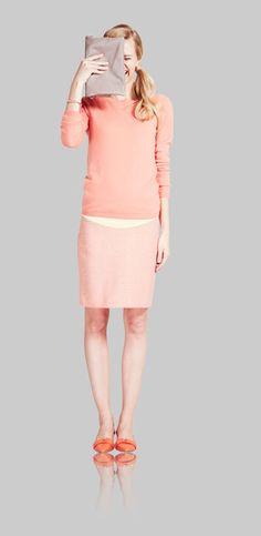 knee length skirt, simple woollen