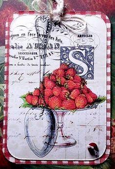 Pretty strawberry tag.