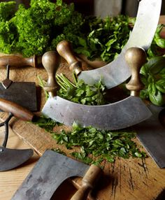 vintage herb choppers - bring out the kitchen witch in me. Spices And Herbs, Fresh Herbs, Vie Simple, Kitchen Witchery, Kraut, Herb Garden, Chopper, Kitchen Gadgets, Cilantro