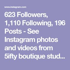 623 Followers, 1,110 Following, 196 Posts - See Instagram photos and videos from 5ifty boutique studio (@5iftyboutique)