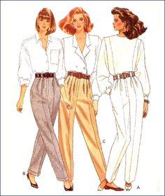 Butterick 6842 Misses Tapered Pants Pattern Size 10 Uncut