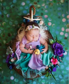 This Disney Princess Newborn Photo Shoot Is Pure Magic