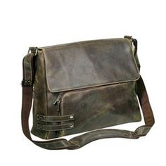 The Jones Collection Distressed Leather Messenger Bag $112.08 at Buy.com
