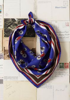 Vintage Along for the Coach Ride Scarf, #ModCloth