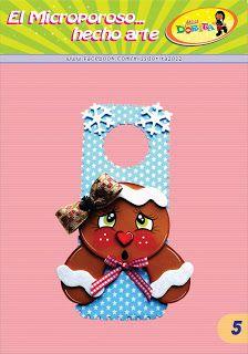 Miss Dorita: Picaporte Galleta School, Christmas, Crafts, Party Invitations, Personalized Party Favors, Wedding Invitation, Feltro, Kettle, Rabbit Drawing