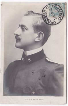Prince Emanuele Filberto, Duke d' Aosta, was for a time the Crown Prince of Italy. He belonged to the royal House of Savoy and he married Princess Helene of Orleans. They had two sons, Prince Amedeo and Prince Almone. House Of Savoy, Italy House, Royal House, Ferdinand, Photo Postcards, The Crown, Cousins, Duke, Catholic