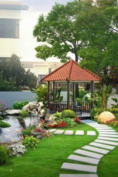 Small Backyard Design, Backyard Patio Designs, Backyard Garden Design, Garden Landscape Design, Backyard Ideas, Small Backyard Landscaping, Backyard Pools, Garden Cottage, Beautiful Gardens