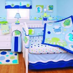 Amazon.com: Kids Line Bubbles 6 Piece Crib Set: Baby