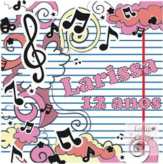 Lollita Cereja: Tags Personalizada Notas Musicais