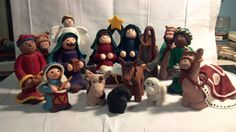 Polymer Clay Holy Family Nativity Size 2 by Loviesoriginals