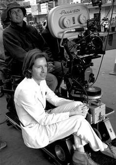 Wes Anderson filming The Darjeeling Limited (2007)
