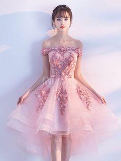Cute Prom Dresses, Pink Prom Dresses, Short Prom Dresses, Lace Prom Dresses The most be Pink Party Dresses, Sexy Dresses, Cute Dresses, Beautiful Dresses, Evening Dresses, Short Dresses, Elegant Dresses, Dresses Uk, Short Tulle Dress