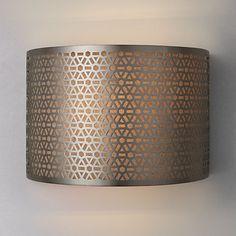 Buy John Lewis Meena Wall Light, Steel Online at johnlewis.com