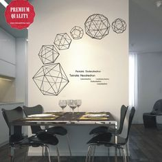 Solid Geometric Figures Wall Decal