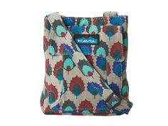 """KAVU canvas Mini Keeper, in Holly Leaf design. Don't love the design or the color palette, but it would go w/my navy carry-on & tote, + the size, at 7""""x*x1"""" would be perfect to put in my carry-on tote & to store under my seat for easy access."""
