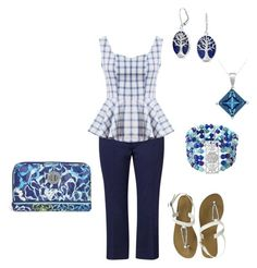 """""""Blues"""" by colegrove33 on Polyvore featuring Olsen, Avenue, Bling Jewelry, Stanley Creations and Vera Bradley"""
