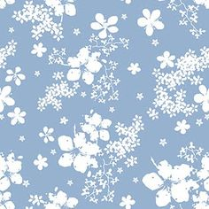 Lovely blue and white floral