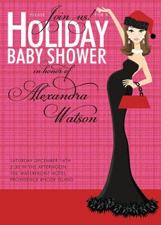 Christmas Baby Shower Invitations: Product No. 307   Santa Baby Shower  Invitations   12 Printed Invitations | Baby Shower Ideas | Pinterest | Christmas  Baby ...