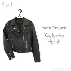 Edgy Moto Jacket - only if it's leather!