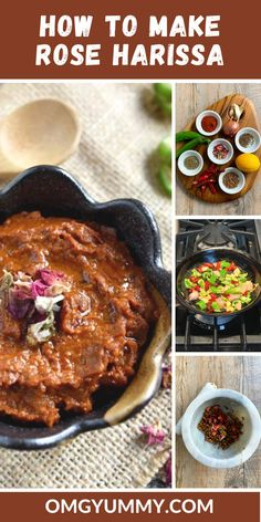 This rose-infused version of harissa will be your new favorite spice condiment. The rose mellows the spice and adds another dimension of flavor to so many dishes. You'll love this North African influenced spice paste that made Ottolenghi's top ingredient list in his cookbook SIMPLE #spicepaste #spicesauce #vegan #healthy #sauces #moroccan #tunisian #tastingjrslm #harissa #roseharissa Brunch Egg Dishes, Rose Harissa, Healthy Sauces, Healty Dinner, Homemade Sauce, Food Hacks, Food Tips, Yummy Food, Delicious Recipes
