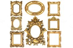 Baroque style antique golden frames by LiliGraphie on Creative Market