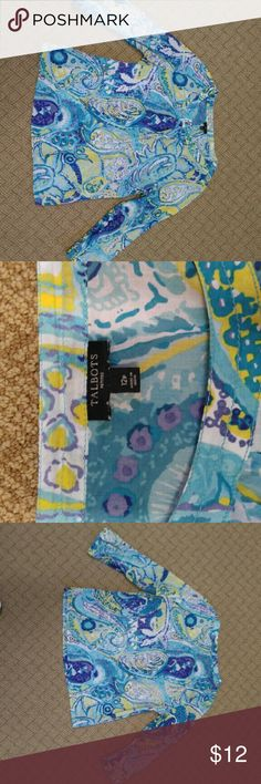 Talbots petites 12p blouse Super cute and classy. This blouse has button sleeves and the colors are so beautiful. Talbots Tops Blouses