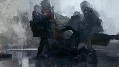 To The Vanishing Point: The Obscure Broken Worlds Of Artist Sergey Kolesov Storyboard, Sergey Kolesov, Horror Pictures, Vision Quest, Vanishing Point, Feminist Art, Life Drawing, Dark Art, Digital Illustration