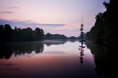 Dawn on the Maumelle River ~ Natural Steps, Arkansas