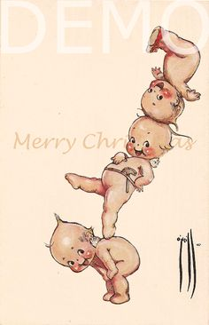 Animated greeting card #15 : Circus Kewpie . Merry Christmas. GIF贺卡 电子耶诞卡圣诞卡.Illustrated by Rose O'Neill (1874-1944); Animated by Tingjia Liang; Digital Publishing by J.SHUTONG ,2016. 705 x 1094 pixels. Delivered by email.