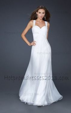 Long White Chiffon Back Prom Dresses for Sale [White Long Dress] - $176.00 : Discount Dresses for Prom 2013,Up 50% Off