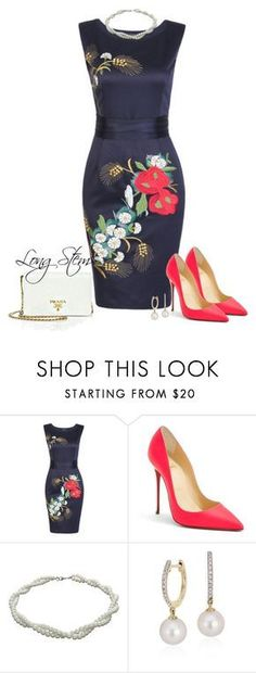 2/12/17 by longstem on Polyvore featuring Christian Louboutin, Prada, NEXTE Jewelry and Blue Nile