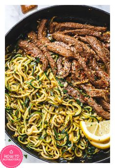 INGREDIENTS LIST FOR THE LEMON GARLIC BUTTER STEAK STEAK AND ZUCCHINI NOODLES 1 1/2 lb (650g) flank steak, sliced against the grain 4 medium zucchini 2 tablespoons olive oil 4 garlic cloves, minced 2 tablespoons butter or ghee 1 lemon, juice and zest 1/4 cup (60ml) low-sodium chicken broth 1/4 cup chopped parsley 1/4 teaspoon crushed red pepper flakes Salt and fresh cracked pepper, to taste The steak marinade 1/3 cup low-sodium soy sauce 1/4 cup lemon juice 1...