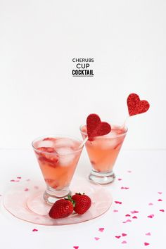 Cherub's Cup Cocktail  Read more - http://www.stylemepretty.com/living/2014/01/31/cherubs-cup-cocktail/