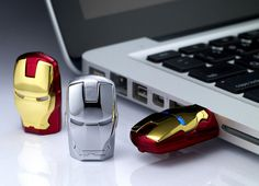 Iron Man Mask USB Flash Drive.. I want one for my birthday!