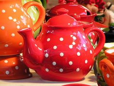Billie, perhaps something Courtney may like? ~ dotty tea pots