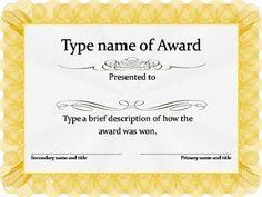 Gold Award Certificate Template                                                                                                                                                                                 More