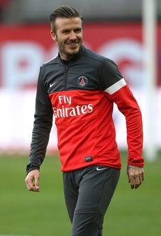 David Beckham during PSG Vs ASNL French Ligue 1 match in Paris