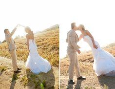 sunset dance // Liesl & JC's pretty vintage wedding