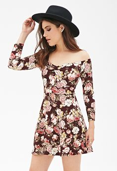 Floral Print Skater Dress | FOREVER21 - 2000137391