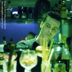 Our #Wasabi #Bartender Bastien in green! Thanks www.wilkes888.wordpress.com for a #fab pic! (^_−)☆