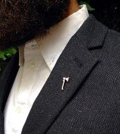 Axe Brass Lapel Pin