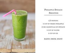Pineapple Spinach Smoothie. Tested on 09/17/2013. Delicious.