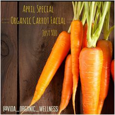 Using the highest quality organic, raw, whole, vegan, natural, real (yep! It's a mouthful!) products by ilike organic skin care our Estheticians have formulated an amazing Facial that is fully customized to your individual skin type, in celebration of Easter. Available for purchase or scheduling during the month of April, this Carrot/ Carotene Rich Organic Facial nourishes and regenerates the skin stimulating collagen production while forming and healing. It supplies your ski