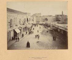 Street in Jerusalem near the Jaffa Gate 1895 Old City Jerusalem, Naher Osten, Palestine History, Holy Land, Bible Art, Old Photos, Israel, Ps, Egypt