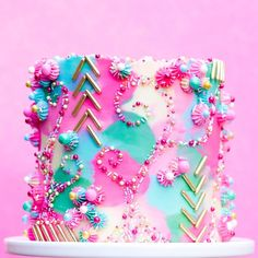 Crazy Cakes, Fancy Cakes, Beautiful Birthday Cakes, Beautiful Cakes, Amazing Cakes, Pretty Cakes, Cute Cakes, Bolo Minnie, Colorful Cakes