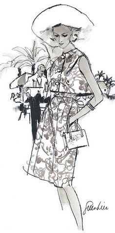 1967 Fashion illustration by Fred Greenhill,