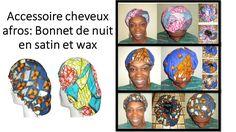 Accessoire routine capillaire : Bonnet satin et wax