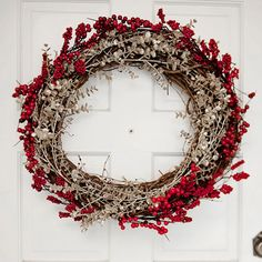 Deck the halls with these gorgeous winter wreaths that will bring holiday cheer to your Christmas decor! http://www.bhg.com/christmas/wreaths/pretty-christmas-wreaths/?socsrc=bhgpin121014berriesandstemswreath&page=4