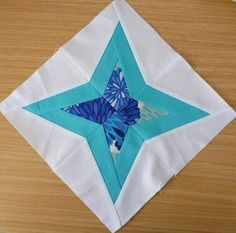 #FreeQuiltingPattern - Diamond Star Paper Pieced Block - click the image to get the free instant download!