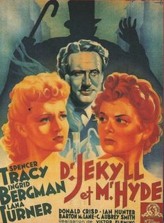 Dr. Jekyll and Mr. Hyde (1941), a film by Victor Fleming. Starring Spencer Tracy, Ingrid Bergman and Lara Turner.